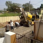 Concrete road construction: A fast and easy process