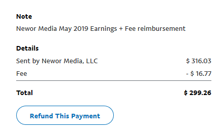 neewor media payment by paypal proof